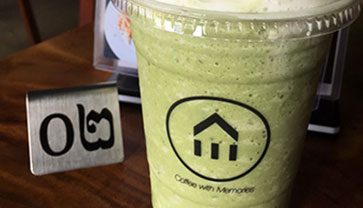 Let's Taste Green Tea Frappe from K.E Cafe & Lounge