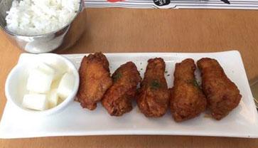 Let's try crispy fried korean chicken at Bon Chon