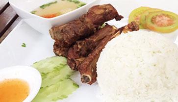 Fried Pork Ribs Rice from CJCC