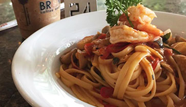 A must try Prawn Linguine at Brown Cafe