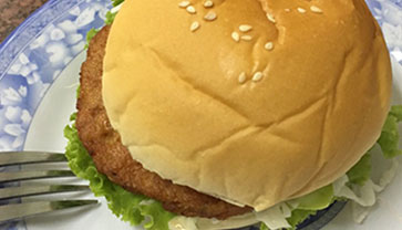 Chicken Burger from Song Tra Ice Cream