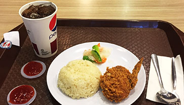 Fried Chicken Rice at KFC Sonthormok